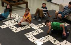 'Sunday School Activity: Life-Size Scrabble' from Building Faith.