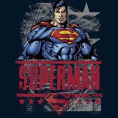 Superman - All American Hero is a T Shirt designed by DCComics to illustrate your life and is available at Design By Humans