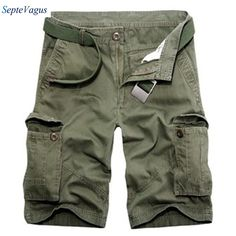 >> Click to Buy << 2017 Mens Boardshorts Men Summer Loose Casual Cotton Cargo Military Militar Shorts Male Elastic Waist Plus Size;zwemshort heren  #Affiliate