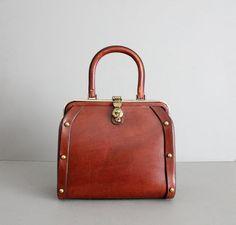 1960s vintage Etienne Aigner leather studded handbag 0dffda65838a7