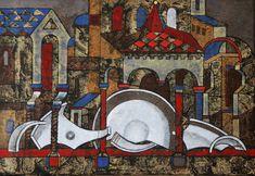 Невозможное шествие.  2005 сталь, эмаль, 45х65. Черновицкий музей Enamel, Painting, Art, Art Background, Vitreous Enamel, Enamels, Painting Art, Kunst, Paintings