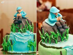 Handmade cake with fondant decor by Olga Tkachenko