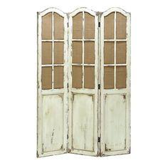 Benzara Folding 3-panel Wood Screen (Simple and Elegant Folding Wooden Screen), Black