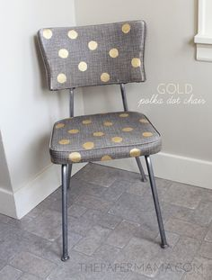 Gold Polka Dot Chair: a makeover story