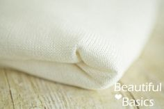 Newborn Backdrop Fabric Linen White Knit Posing Beanbag Fabric