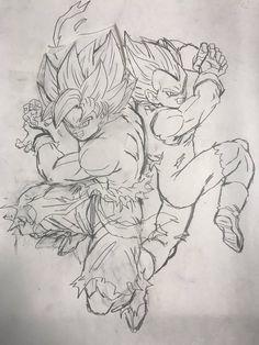 Dragon Ball Gt, Dragon Ball Image, Rayquaza Pokemon, Dbz Drawings, Z Tattoo, Arte Do Kawaii, Ball Drawing, Art Anime, Anime Sketch