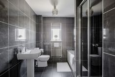 Sleek modern bathroom at Walker Group's Ashton Gardens in Kirkliston