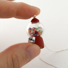 This makes me so unbelievably happy inside. $28 Gumball Machine Necklace