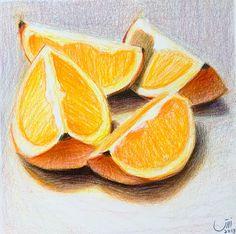 Colored Pencil Artwork, Pencil Art Drawings, Colored Pencils, Watercolor Pencil Art, Still Life Drawing, The Other Art Fair, Food Drawing, Sketchbook Inspiration, Diy Canvas Art