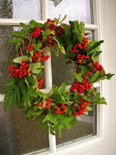 Rowan berry wreath.