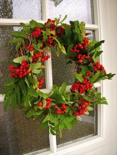 Rowan berry wreath.