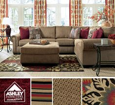 Perfect shades for autumn! Courtmeyers Sectional - Ashley Furniture HomeStore