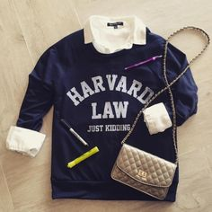 ••• SMARTY PANTS ••• -Harvard Jk Sweatshirt $30.00  #HarvardLaw #JustKidding #Sweatshirt #Loungewear #FortLauderdale #Boutique #Shopping #Harvard #Preppy #PrepSchool