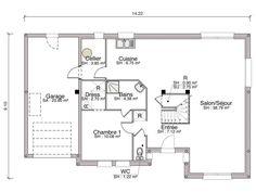 rsultat de recherche dimages pour plan maison 1 chambre rdc et 2 chambres