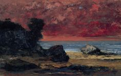 Gustave Courbet - After the Storm, 1872, oil on panel