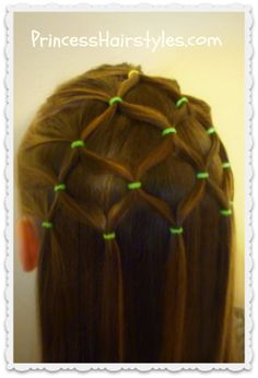 Elastic Christmas Tree Hairstyle  (Christmas) from Princess Hairstyles