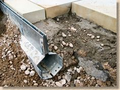 concealled drainage gulley - Landscape design architecture and new construction. Detail Architecture, Landscape Architecture, Landscape Design, Garden Design, House Design, Drainage Channel, Trench Drain, Yard Drainage, Linear Drain
