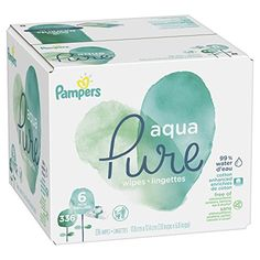 Baby Wipes, Pampers Aqua Pure Sensitive Water Baby Diaper Wipes, Hypoallergenic and Unscented, Pop-Top Travel Packs, 336 Count Bad Diaper Rash, Aqua, Lactation Recipes, Baby Swag, Baby List, Baby Supplies, Soft And Gentle, Facial Skin Care, Baby Hacks