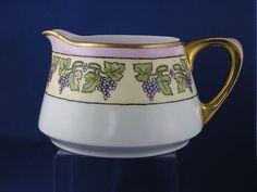 Heinrich & Co. (H&Co.) Bavaria Arts & Crafts Grape Motif Pitcher (c.1900-1930)