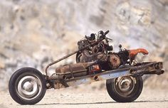 The Mad max style bike created by a Frenchman.