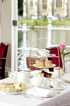 A tempting Afternoon Tea at Macdonald Compleat Angler Hotel, available from Superbreak.com