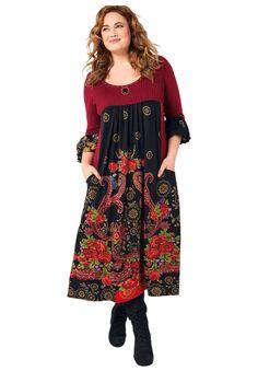 Folk Print Dress | Plus Size Dresses | Jessica London