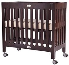 Bloom Alma Mini Urban Crib Frame, Cappuccino Modern design, solid wood mini-crib sized for urban liv Cribs For Small Spaces, Small Crib, Nursery Furniture Collections, Nursery Furniture Sets, Baby Furniture, Cheap Furniture, Nursery Decor, Best Baby Cribs, Best Crib