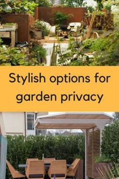 Fences for privacy – 9 great ideas for garden screening #gardening #gardenprivacy