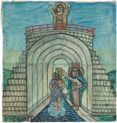Nikifor Krynicki - Chrzest w Jordanie Paintings, Art, Art Background, Paint, Painting Art, Kunst, Performing Arts, Painting, Painted Canvas