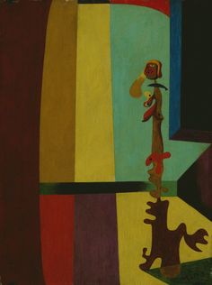 "Joan Miró ""Figure"", 1932 - Oil on panel    10 3/4 x 7 7/8 in - currently on display autumn 2012"