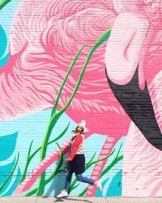 Flamingo wall in Chi