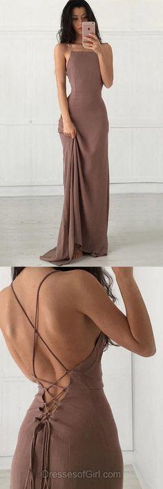 Sheath/Column Square Neckline Chiffon Floor-length Ruffles Backless Sexy Prom Dresses