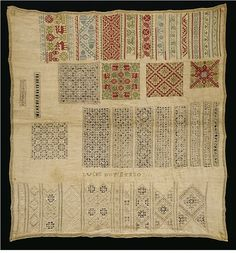 Sampler made by Lucke Boten in 1618 Germany.