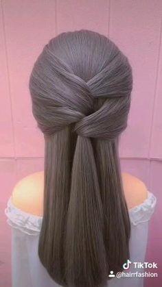 Bun Hairstyles For Long Hair, Easy Hairstyles For Long Hair, Braided Hairstyles, Office Hairstyles, Anime Hairstyles, Stylish Hairstyles, Hairstyles Videos, Hair Updo, Curly Hair