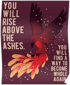 """'""""You Will Rise Above the Ashes"""" Phoenix' Canvas Print by thelatestkate - Quotes Inspirational Animal Quotes, Cute Animal Quotes, Cute Quotes, Best Quotes, Cute Animals, Cute Animal Drawings, Cute Drawings, Life Quotes Love, Quotes To Live By"""