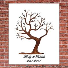 Svatební strom srdcový č.2 50x60