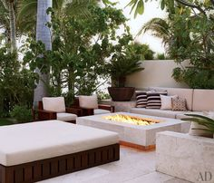 Outdoor living area of George Clooney's Mexican villa