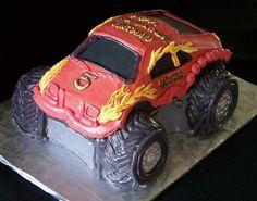Monster Truck Birthday Cake Image Monster Trucks, Toy Trucks, Cake Images, Cake Pictures, Birthday Bash, Birthday Celebration, Monster Truck Birthday Cake, Image Monster, Truck Cakes