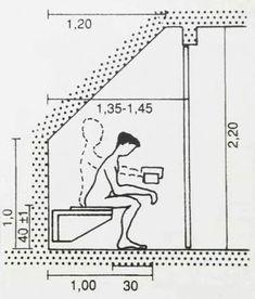 BNB Architects: 2019 Bathroom Design Small, Bathroom Layout, Bathroom Interior Design, U Stairs Design, Plan Wc, Wc Public, Stair Dimensions, Understairs Toilet, Attic Master Bedroom