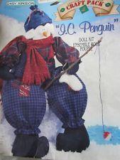 """Daisy Kingdom I C Penguin 18"""" Softie Plush Doll Fabric Panel #daisykingdom #penguin #daisykingdompanel"""