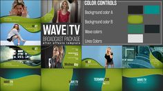 Broadcast Package Wave TV Templates on Behance