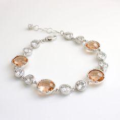 Wedding Bracelet Wedding Jewelry Bridesmaid by poetryjewelry, $49.00