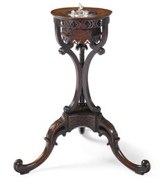 An important George III mahogany tea caddy-stand circa 1760, Manner of Mayhew and Ince Estimate 50,000 — 70,000 USD SOLD. 104,500 USD