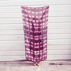 Navajo Red Silk Shibori Wrap Scarf