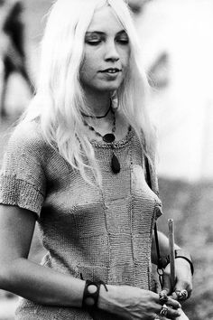 A Young Woman At The Woodstock Music Festival
