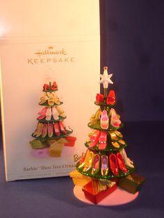 Hallmark Keepsake Ornament; Barbie Shoe Tree. 2006.