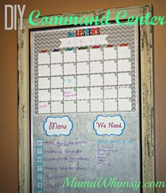 Finally, We Have a Command Center!! DIY Tutorial
