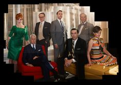 Mad Men Season 5 cast: Joan, Roger, Lane, Pete, Don, Bert and Peggy