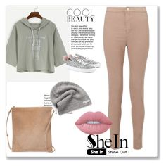 """""""shein 1."""" by samra-sisic ❤ liked on Polyvore featuring Miss Selfridge, The Row, Lime Crime, Minna Parikka and Converse"""