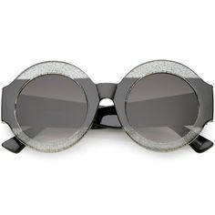 POP Men Women Retro Round heart-shaped Metal Frame Sunglasses Glasses Eyewear #3